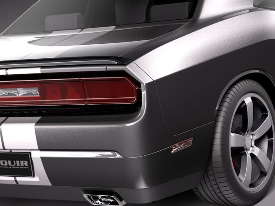 Dodge Challenger SRT8 392 2012 royalty-free 3d model - Preview no. 4