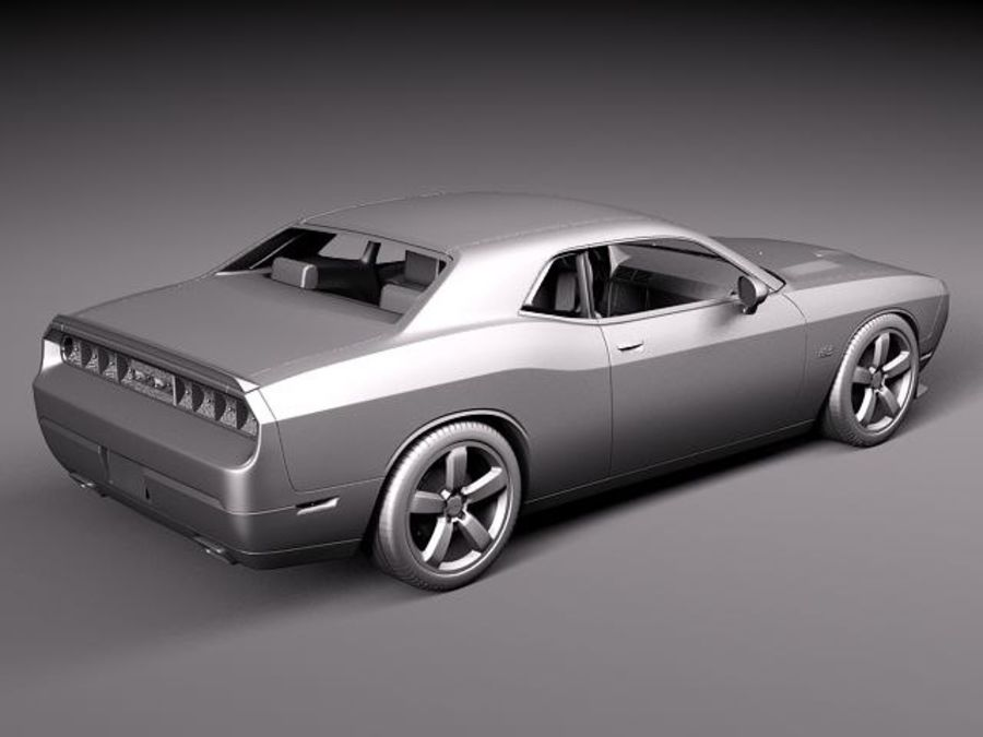 Dodge Challenger SRT8 392 2012 royalty-free modelo 3d - Preview no. 10