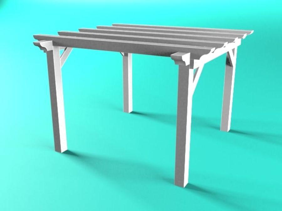 Pérgola de madera pérgola royalty-free modelo 3d - Preview no. 4