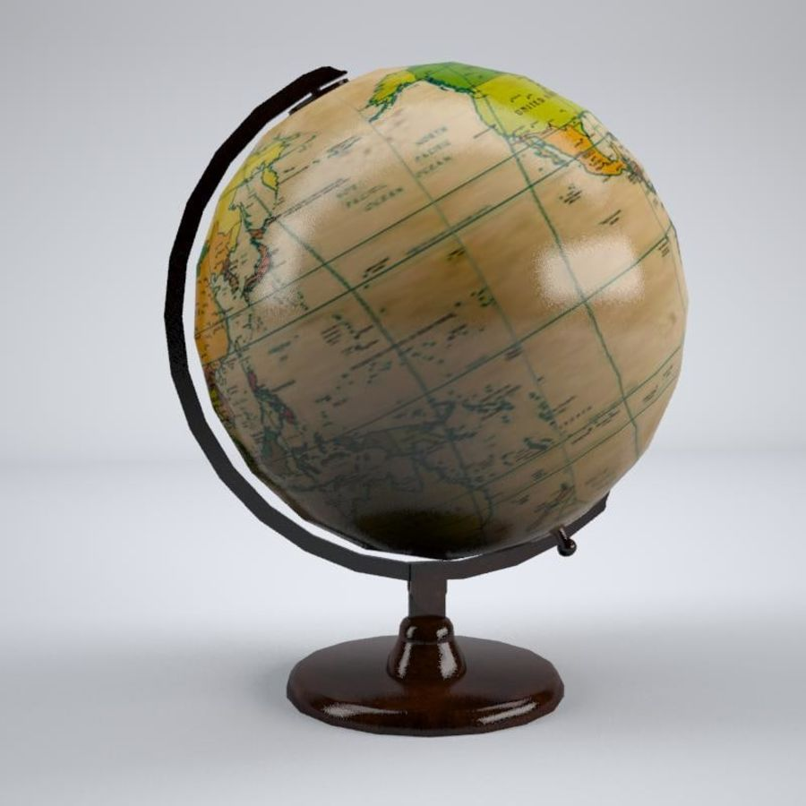 World Globe royalty-free 3d model - Preview no. 2