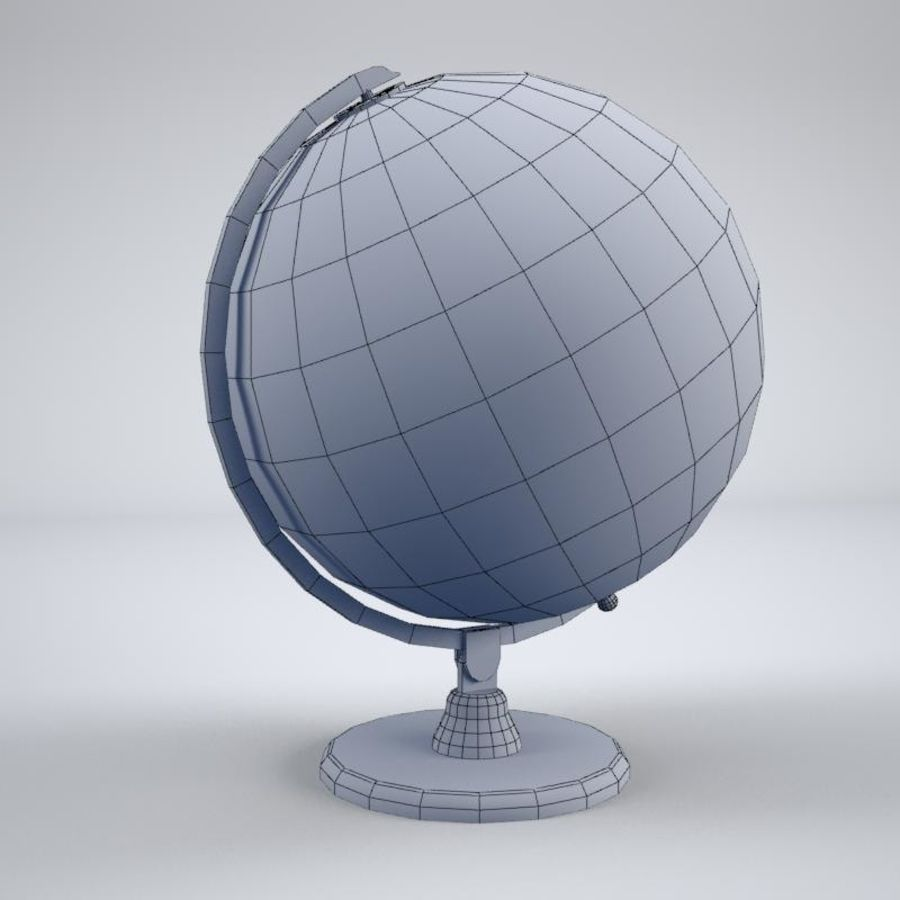 World Globe royalty-free 3d model - Preview no. 5