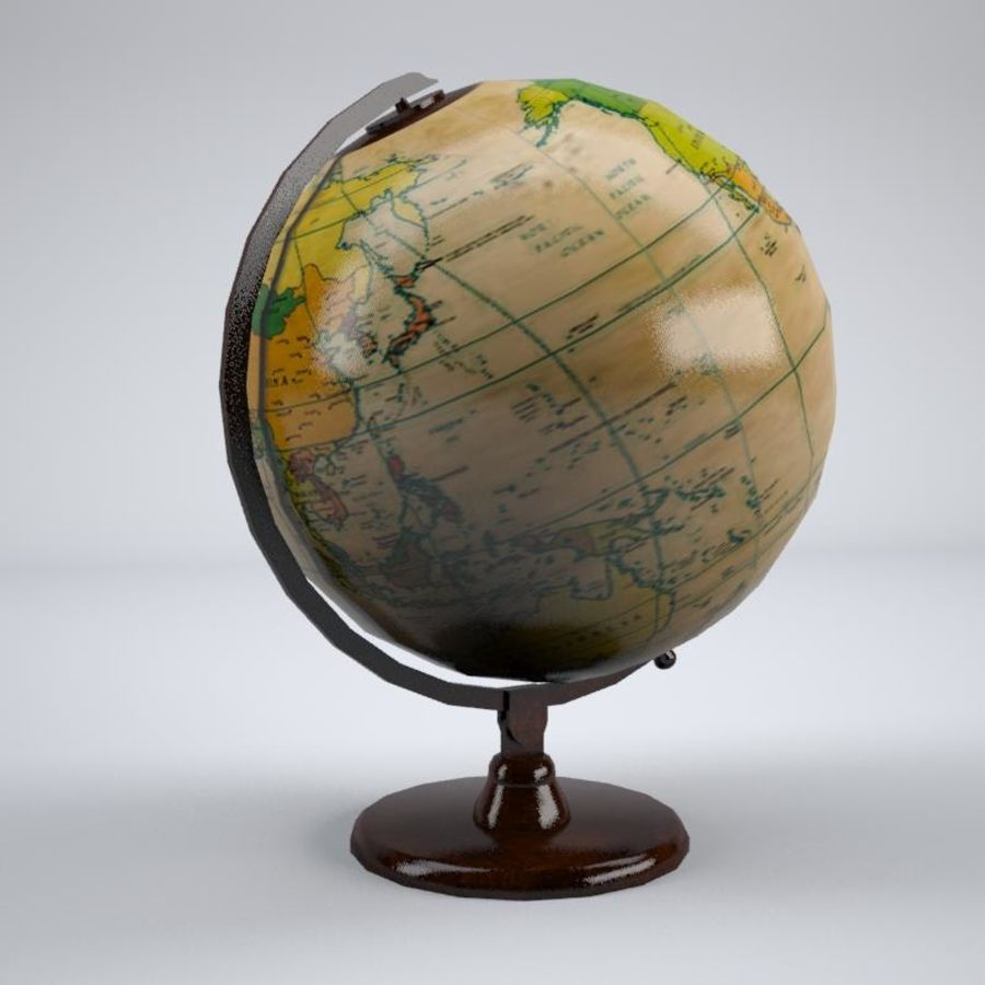 World Globe royalty-free 3d model - Preview no. 4