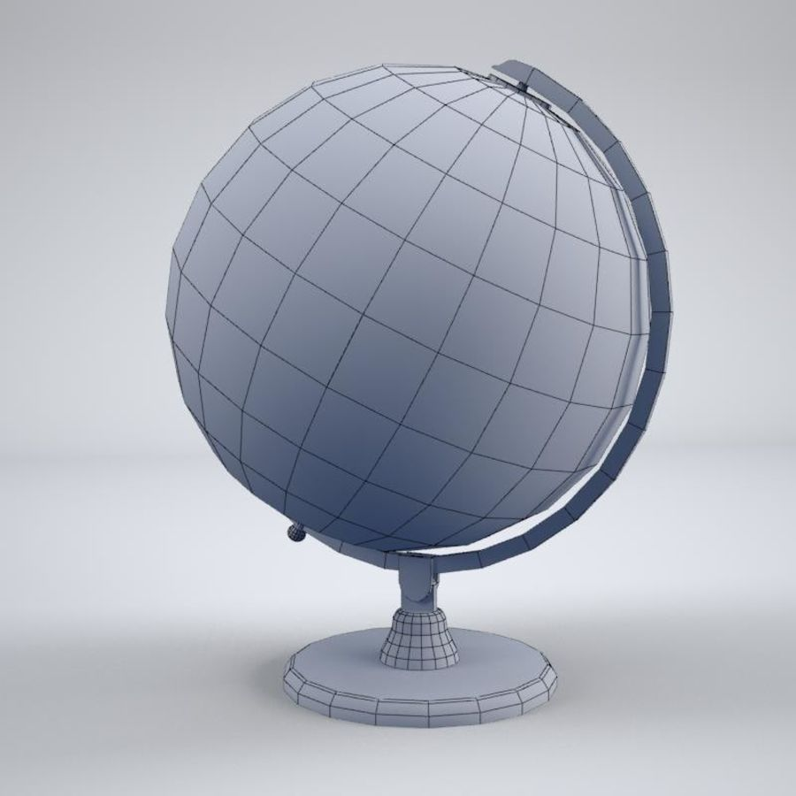 World Globe royalty-free 3d model - Preview no. 7