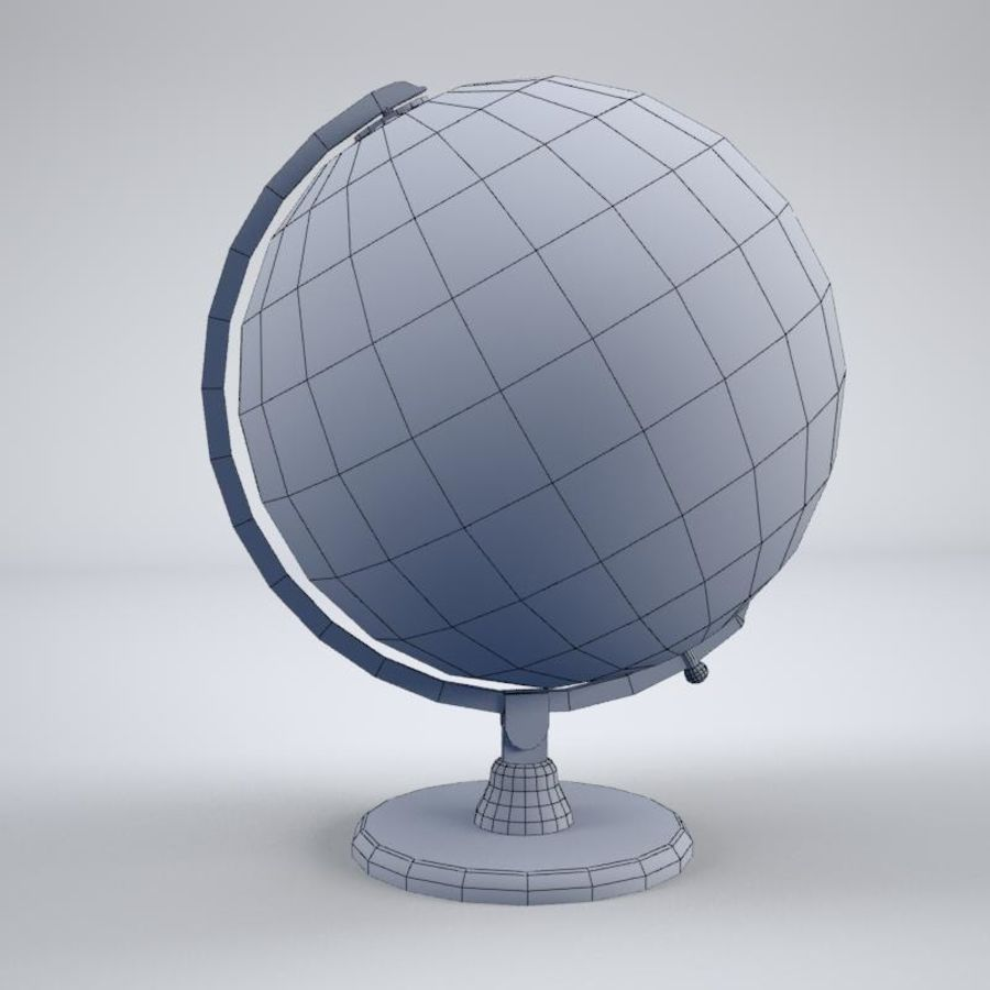World Globe royalty-free 3d model - Preview no. 9