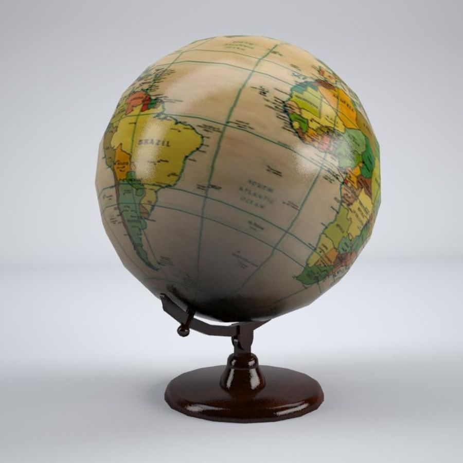 World Globe royalty-free 3d model - Preview no. 3