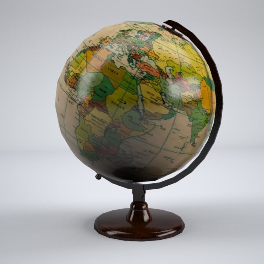 World Globe royalty-free 3d model - Preview no. 1