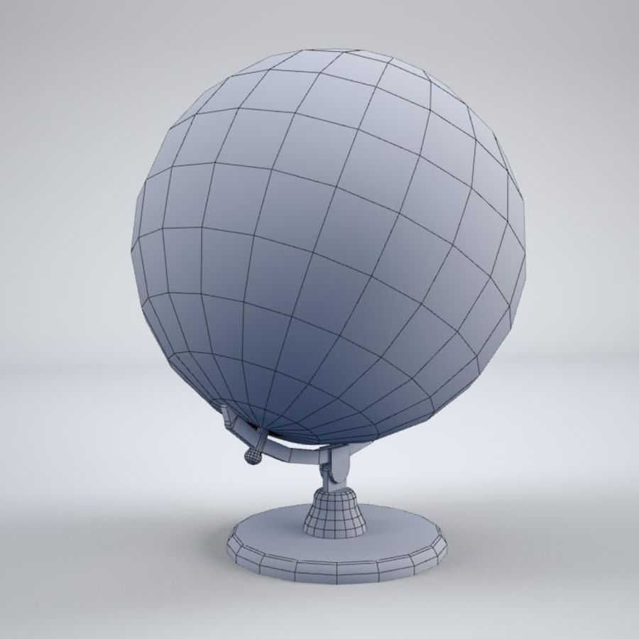 World Globe royalty-free 3d model - Preview no. 8