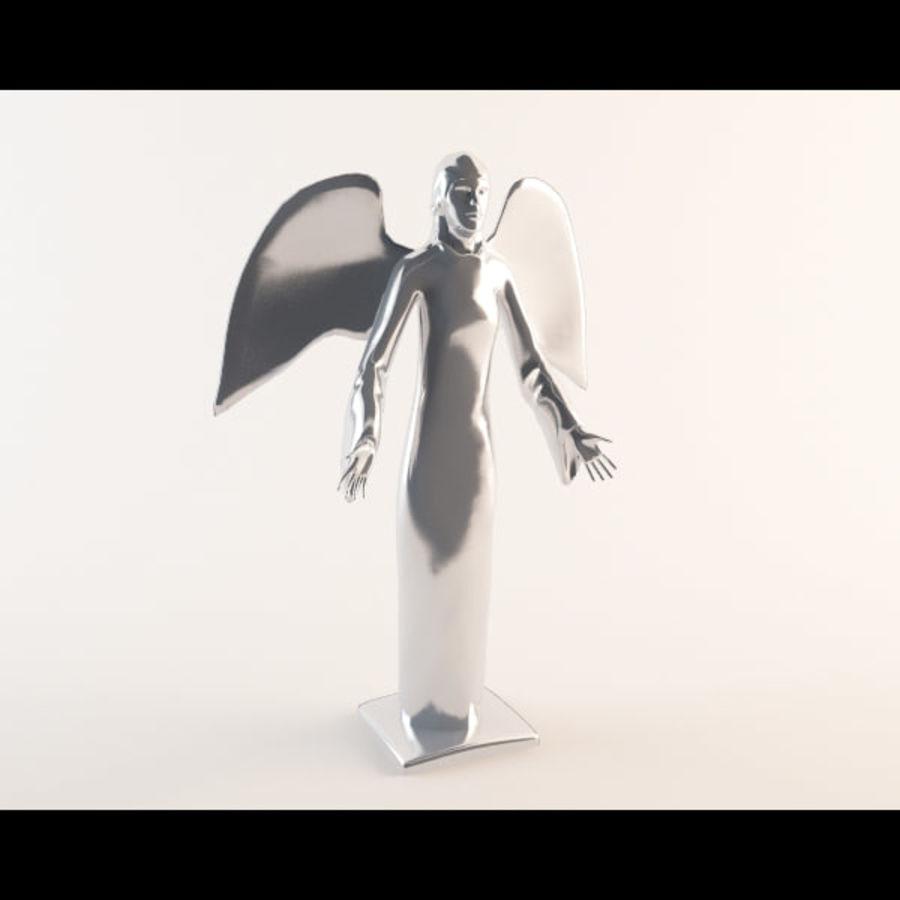 Statua anioła royalty-free 3d model - Preview no. 4