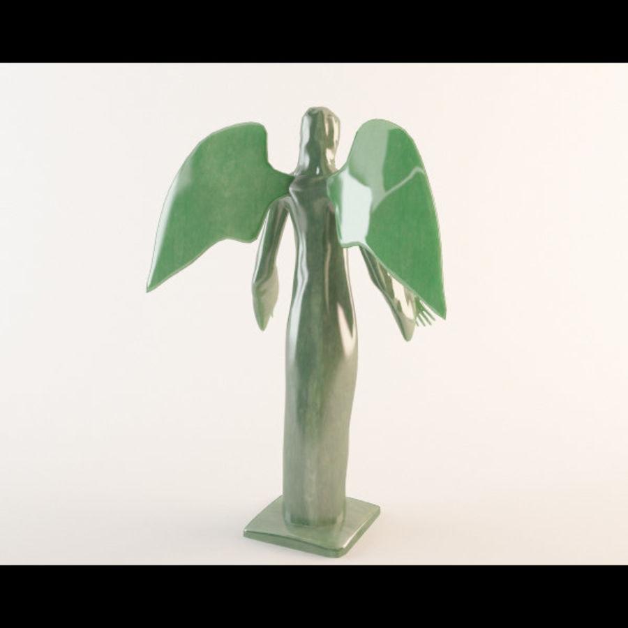 Statua anioła royalty-free 3d model - Preview no. 3