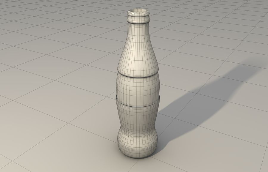 Coca Cola bottle & glass royalty-free 3d model - Preview no. 4