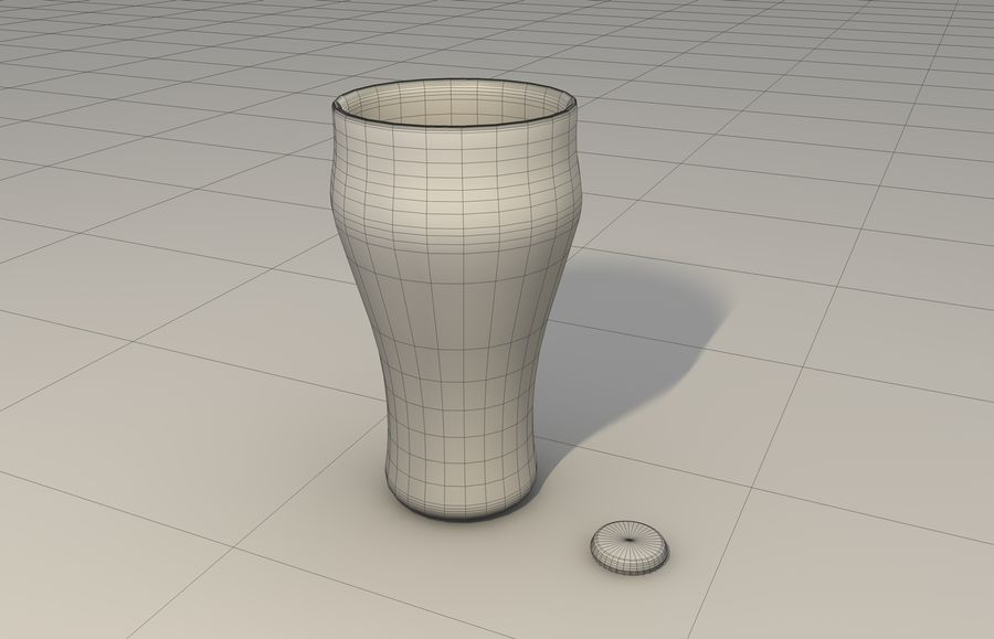 Coca Cola bottle & glass royalty-free 3d model - Preview no. 6