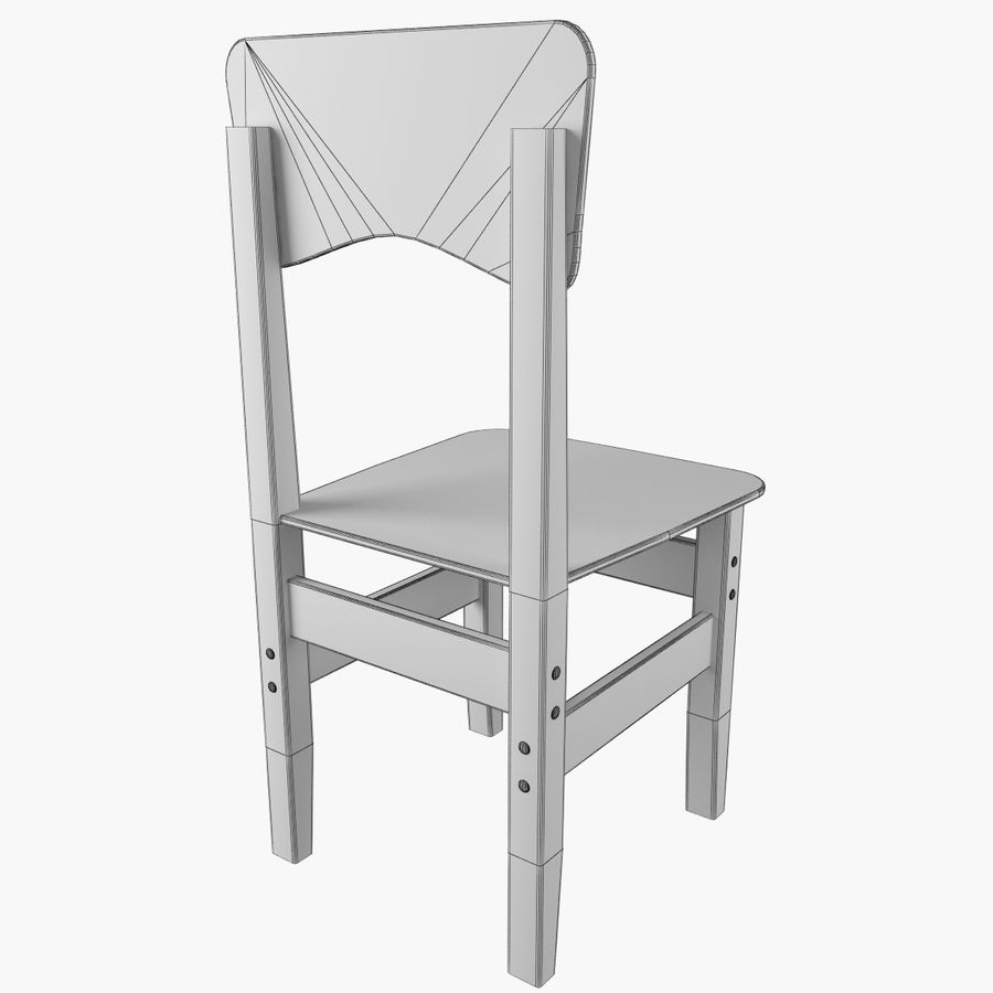 Cadeira de criança royalty-free 3d model - Preview no. 5