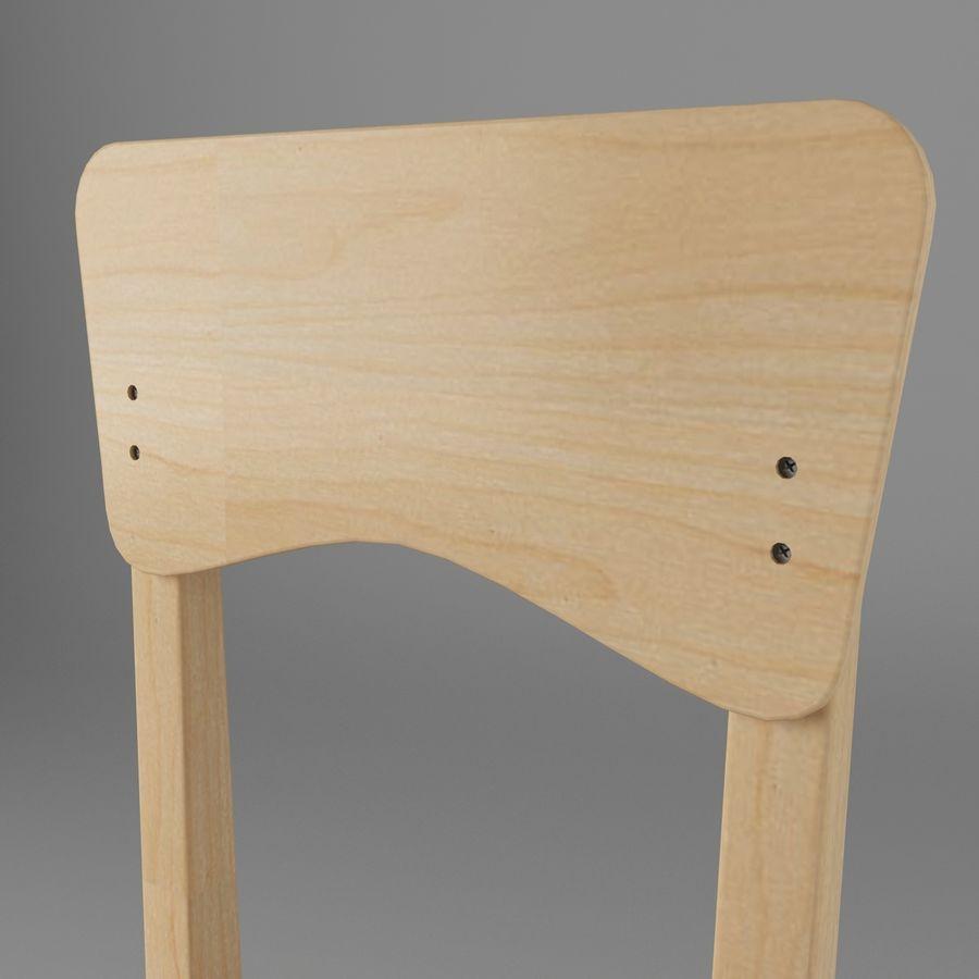 Cadeira de criança royalty-free 3d model - Preview no. 3