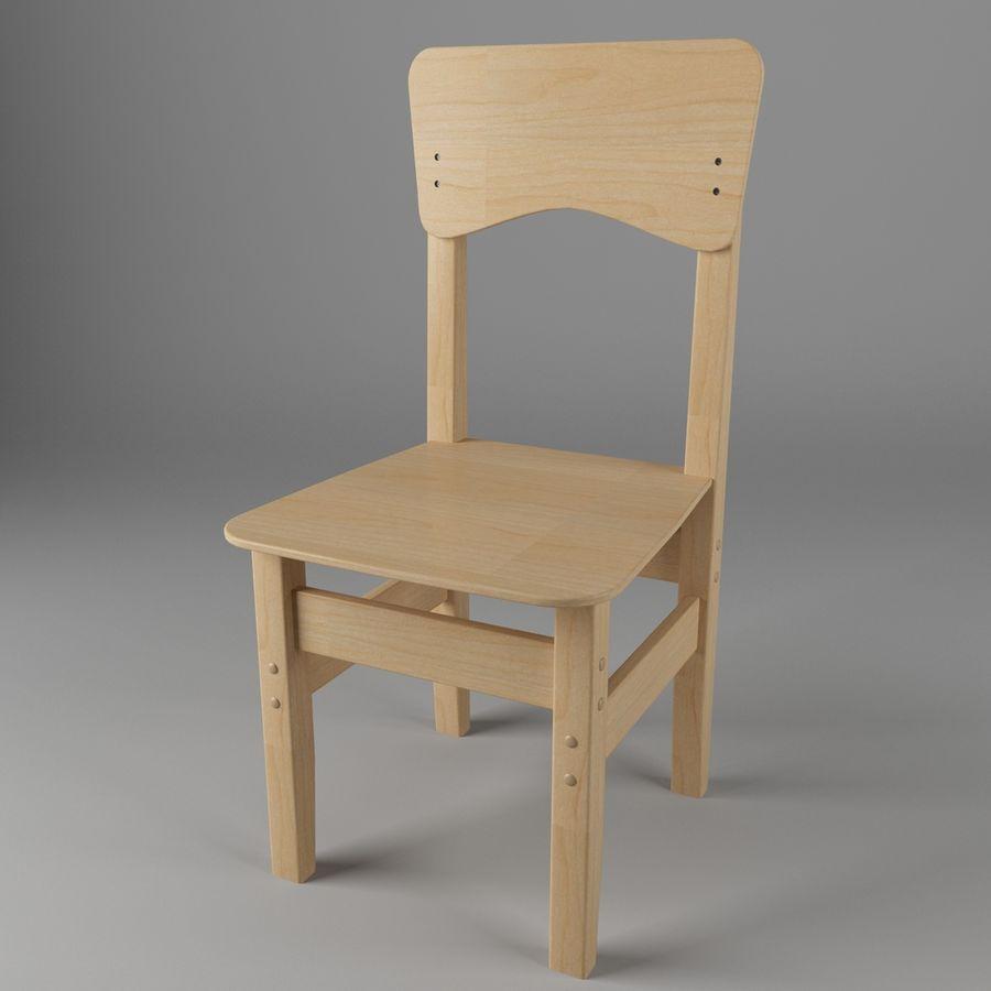 Cadeira de criança royalty-free 3d model - Preview no. 1