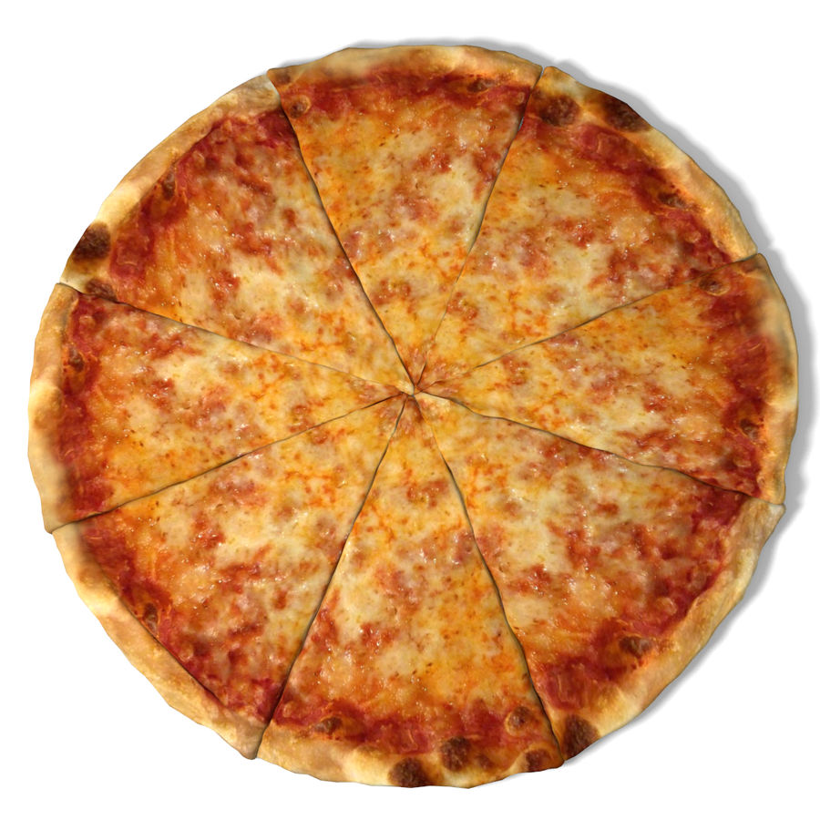 Cheese Pizza royalty-free 3d model - Preview no. 2