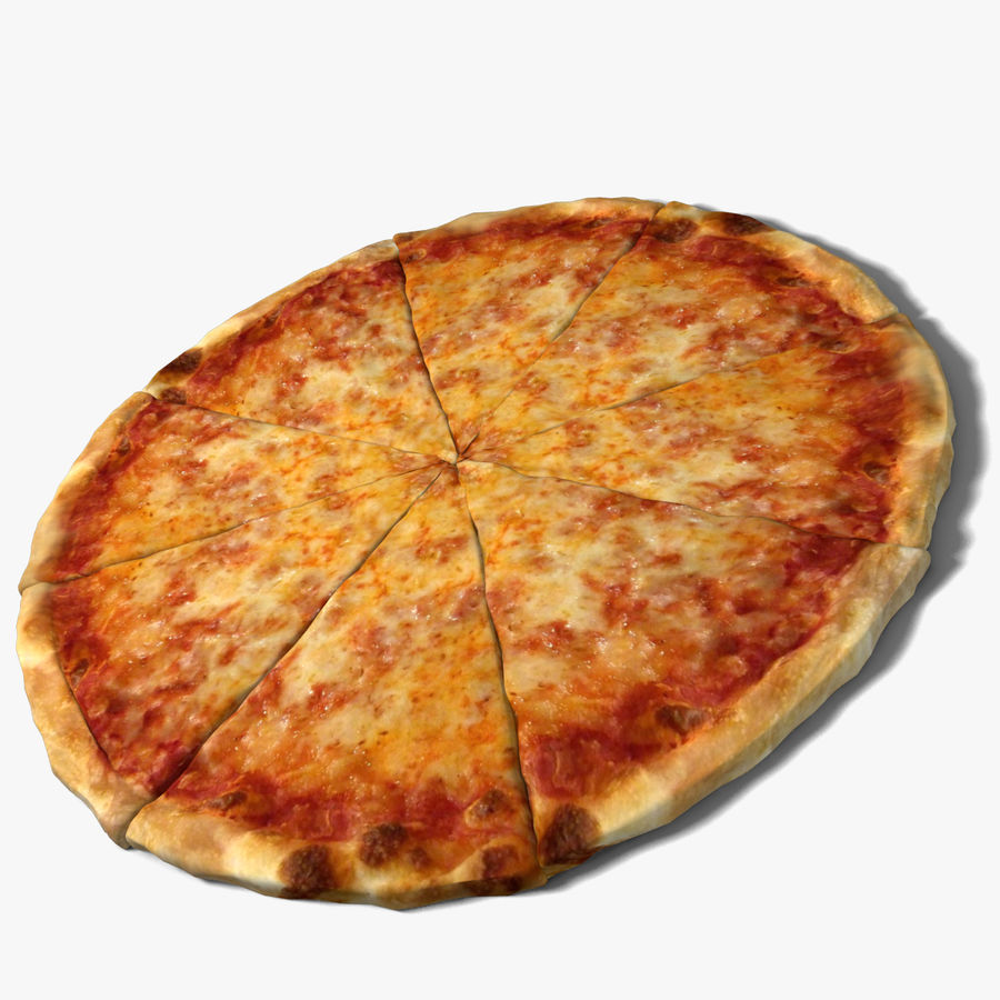 Cheese Pizza royalty-free 3d model - Preview no. 1