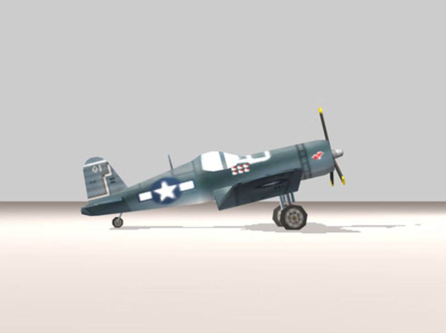 Avion F4U Corsair Fighter royalty-free 3d model - Preview no. 1