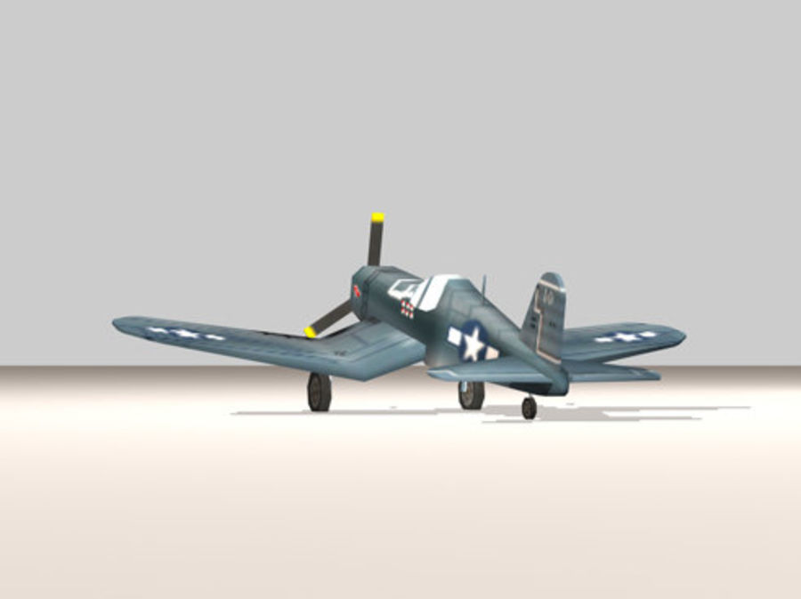 Avion F4U Corsair Fighter royalty-free 3d model - Preview no. 4