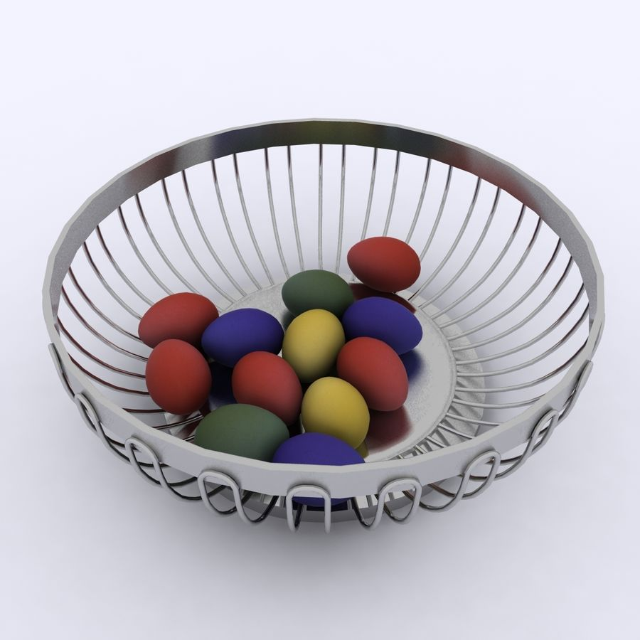 Egg Basket royalty-free 3d model - Preview no. 6