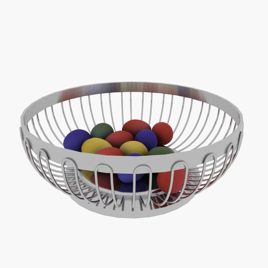 Egg Basket royalty-free 3d model - Preview no. 2