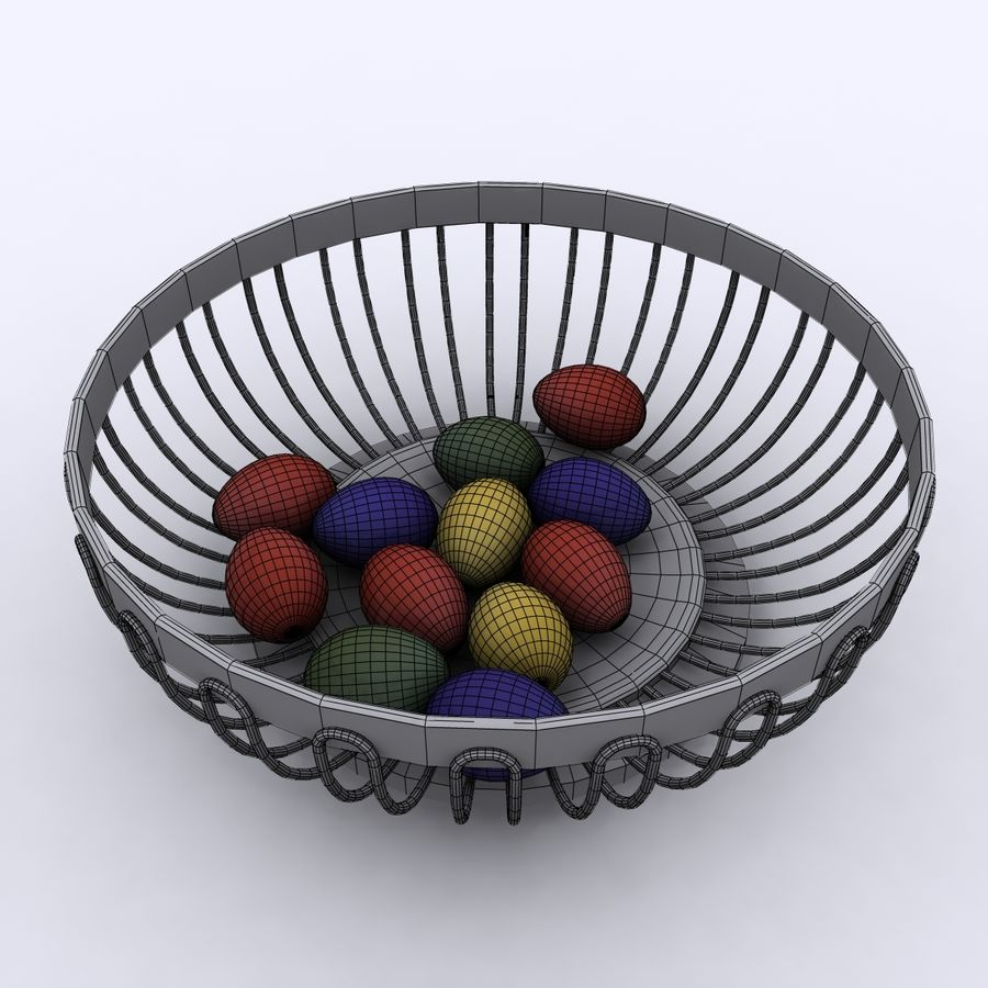 Egg Basket royalty-free 3d model - Preview no. 7