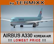 Airbus A330 KOREA AIR 3d model