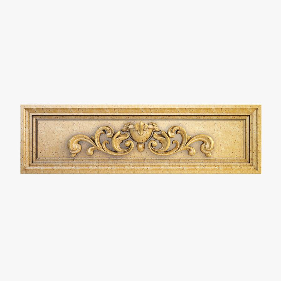 Dekoratif Oymalı Eleman 011 royalty-free 3d model - Preview no. 1