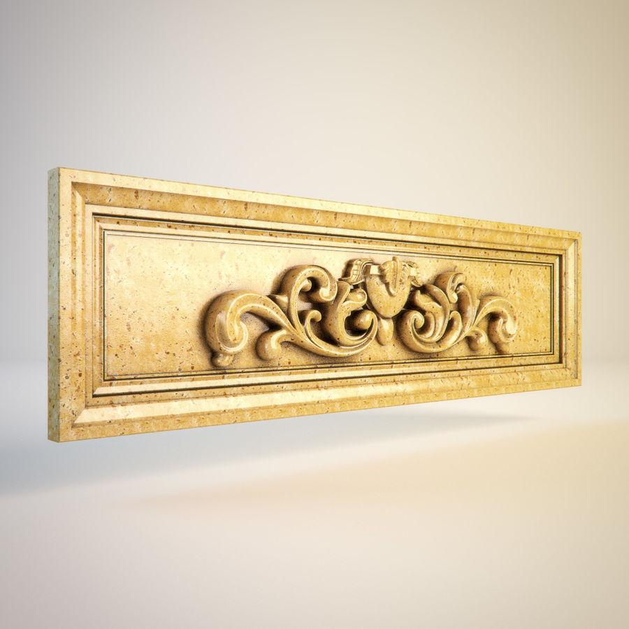 Dekoratif Oymalı Eleman 011 royalty-free 3d model - Preview no. 3