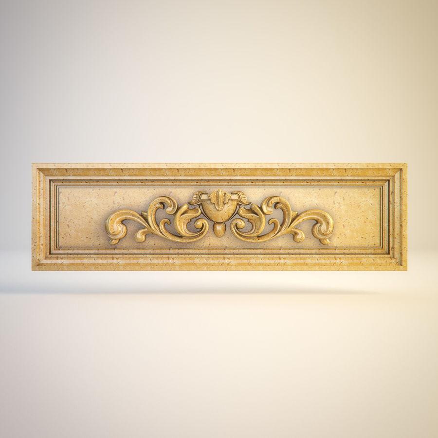 Dekoratif Oymalı Eleman 011 royalty-free 3d model - Preview no. 2