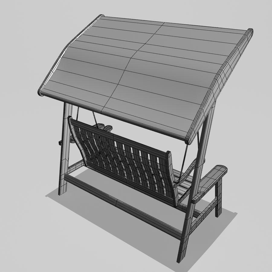 Bahçe salıncak royalty-free 3d model - Preview no. 5