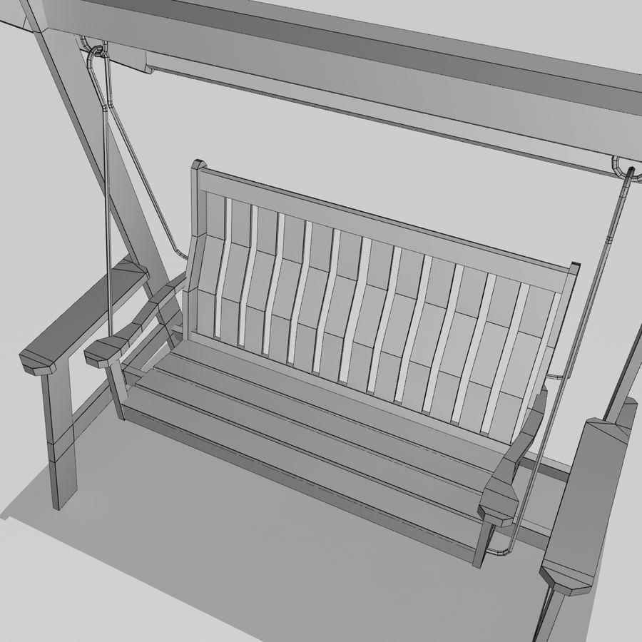 Bahçe salıncak royalty-free 3d model - Preview no. 4