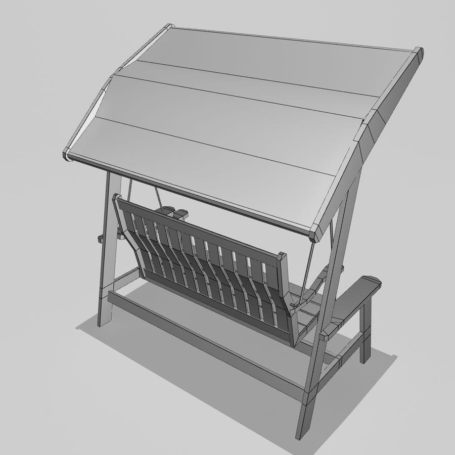 Bahçe salıncak royalty-free 3d model - Preview no. 6