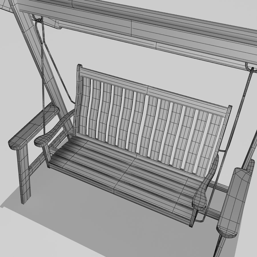 Bahçe salıncak royalty-free 3d model - Preview no. 3
