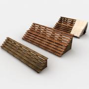 Wooden Tribune Collection 3d model