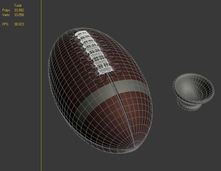 fútbol americano royalty-free modelo 3d - Preview no. 6