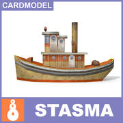 Papermodel Schiff 3d model