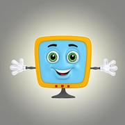 Cartoon-Monitor 3d model