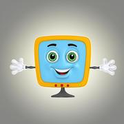 cartoon monitor 3d model
