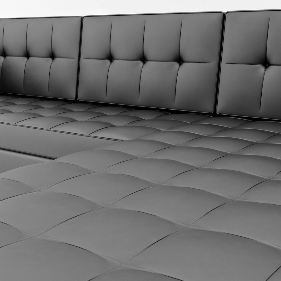 L Couch 02 royalty-free 3d model - Preview no. 10