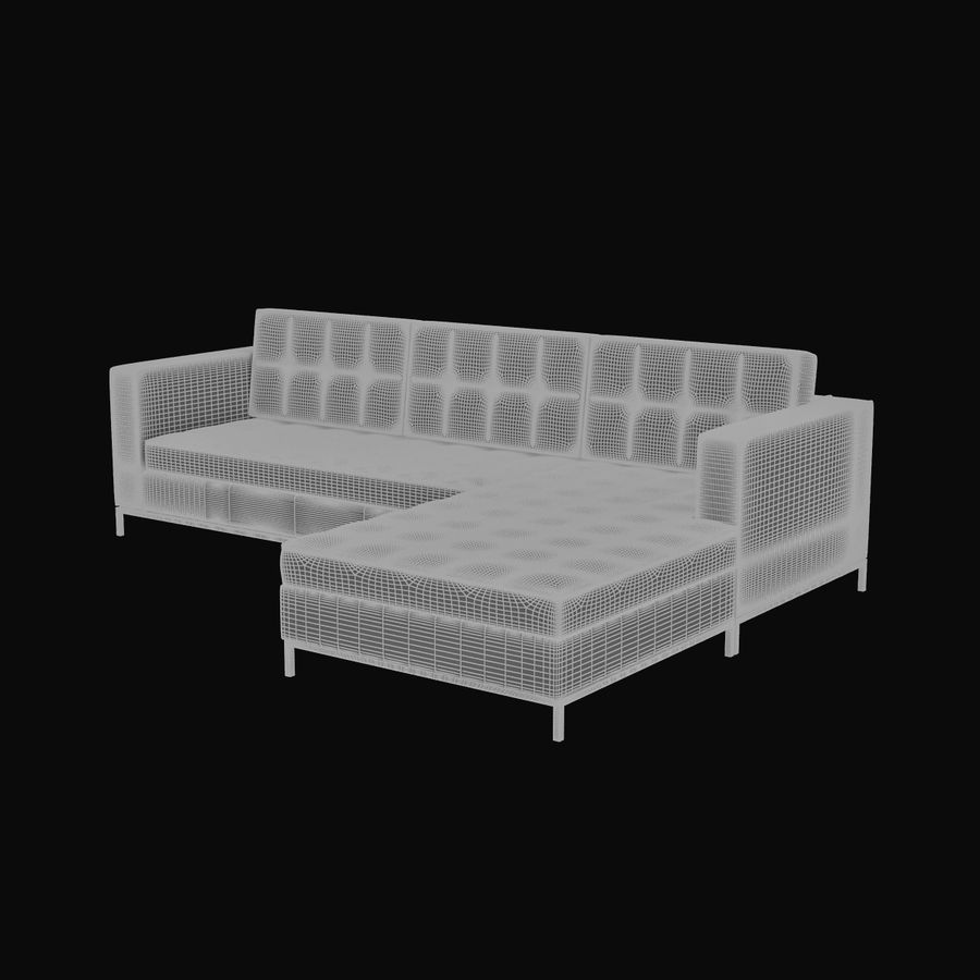 L Couch 02 royalty-free 3d model - Preview no. 8