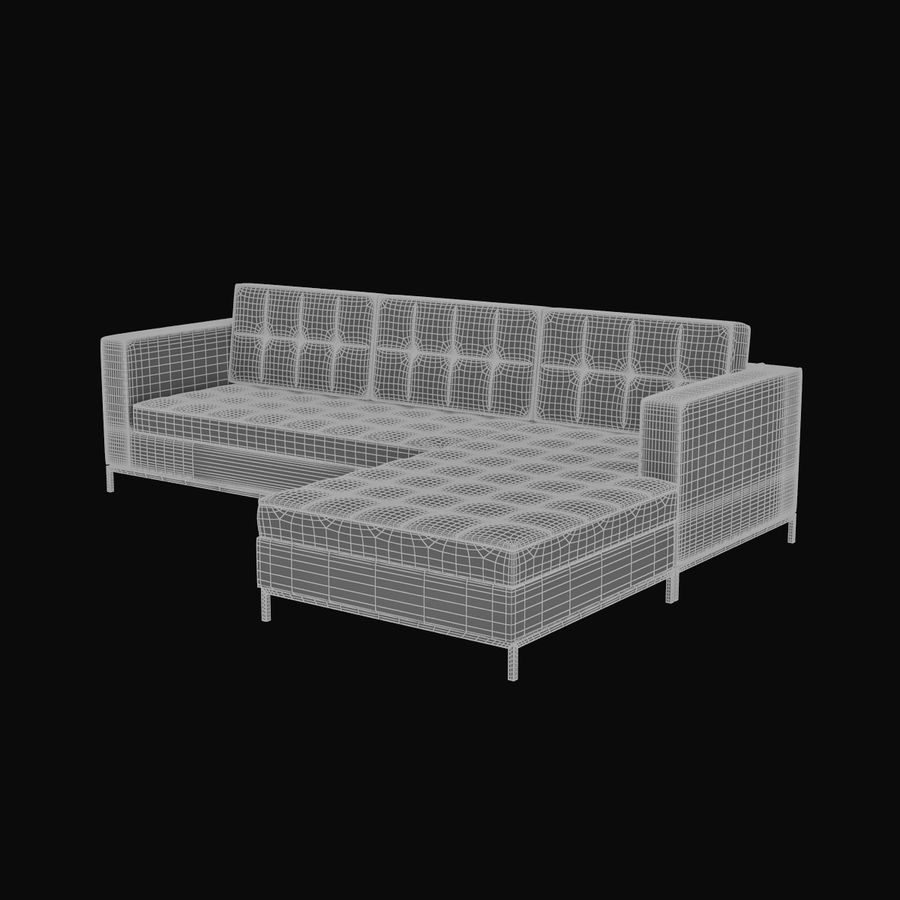 L Couch 02 royalty-free 3d model - Preview no. 9