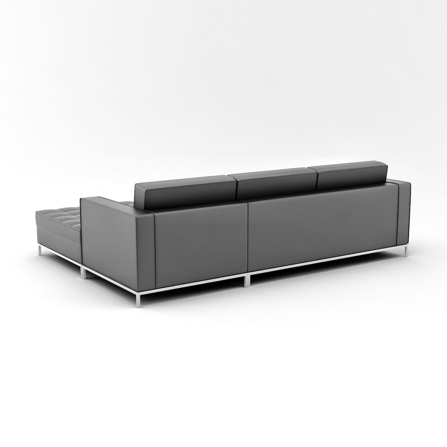 L Couch 02 royalty-free 3d model - Preview no. 4