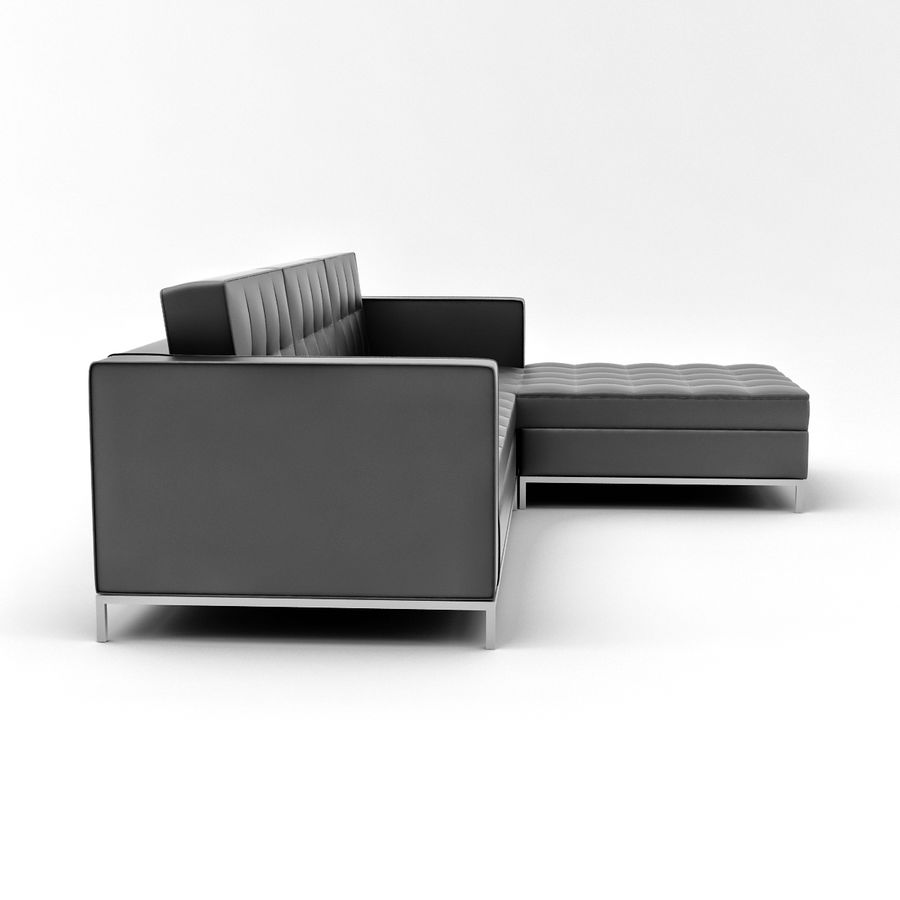 L Couch 02 royalty-free 3d model - Preview no. 5