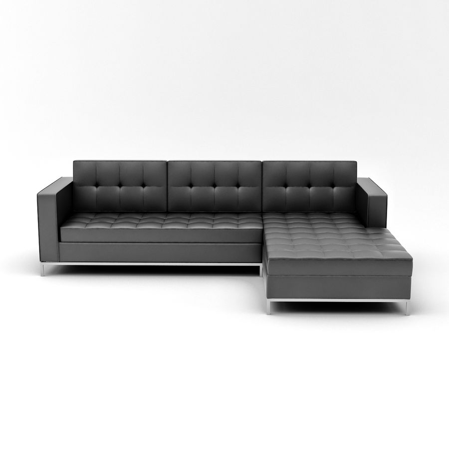L Couch 02 royalty-free 3d model - Preview no. 3