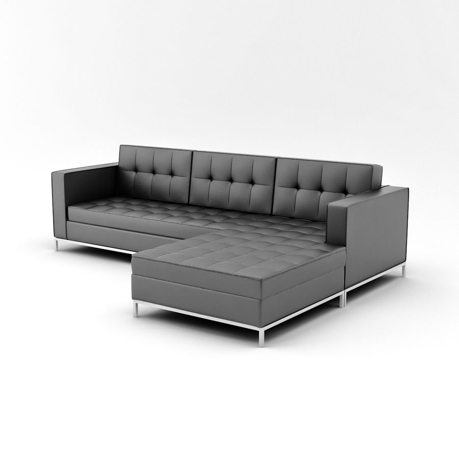 L Couch 02 royalty-free 3d model - Preview no. 7