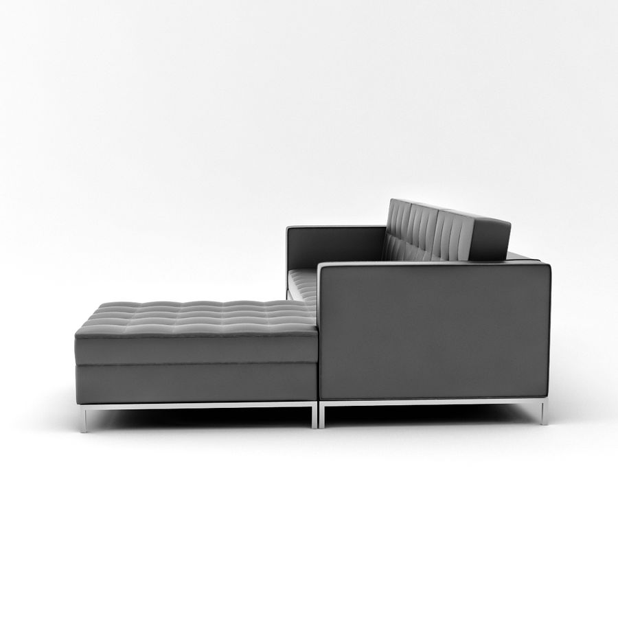 L Couch 02 royalty-free 3d model - Preview no. 6