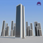 Futuristic Sci-Fi Skyscraper 3 set 3d model