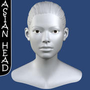 Asian Female Head 3d Model 3d model