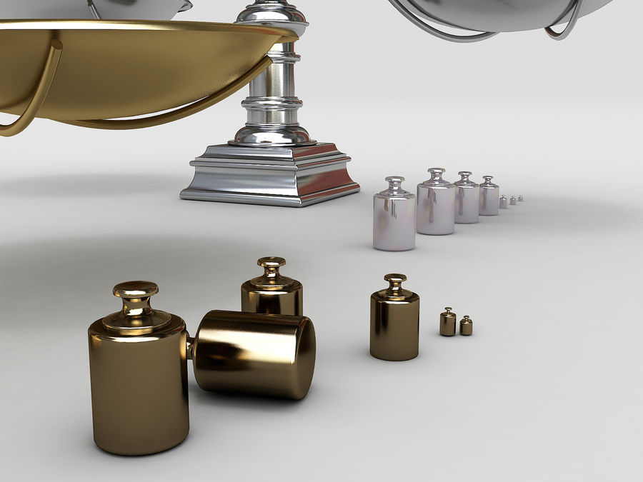 Precision balance royalty-free 3d model - Preview no. 4