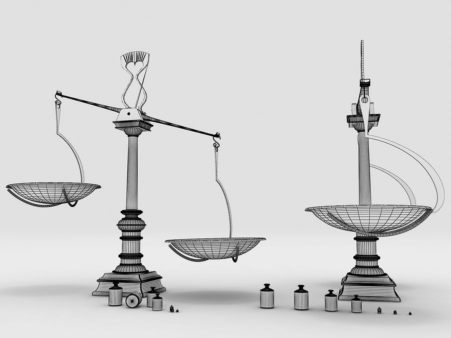 Precision balance royalty-free 3d model - Preview no. 7